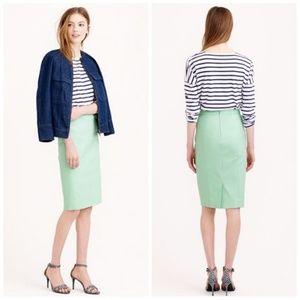 J.Crew Mint Green Cotton Twill Pencil Skirt